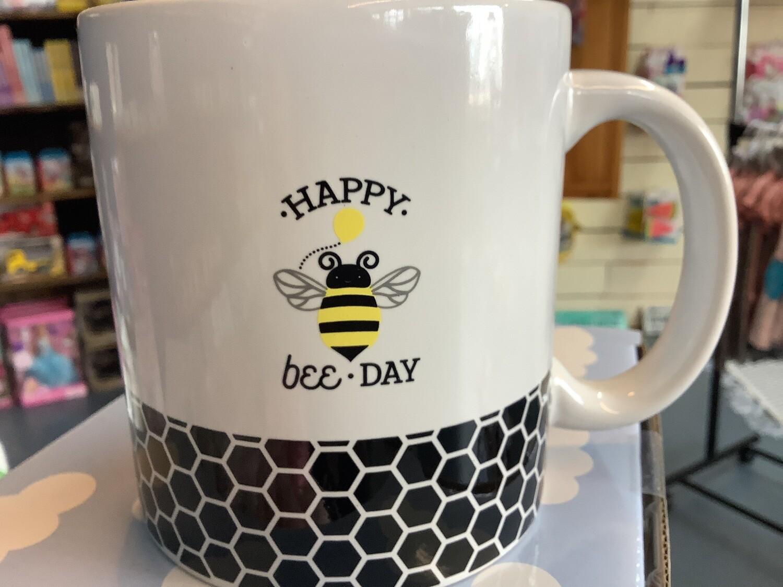 STONEWARE BOXED MUGS HAPPY BEE