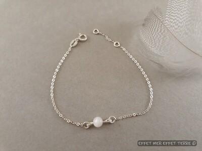 Bracelet perle nacre blanche