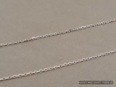 Chainette argent maille forçat 50cm