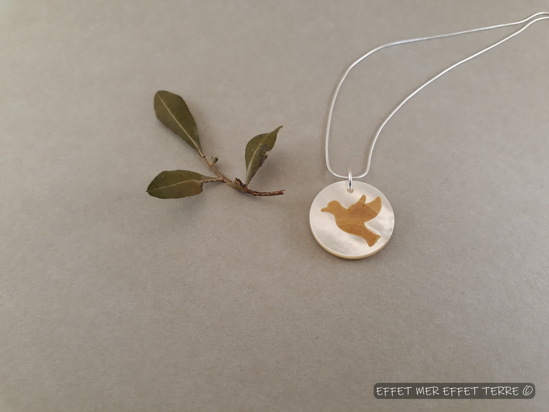 Marqueterie colombe nacre blanche nouveau modèle