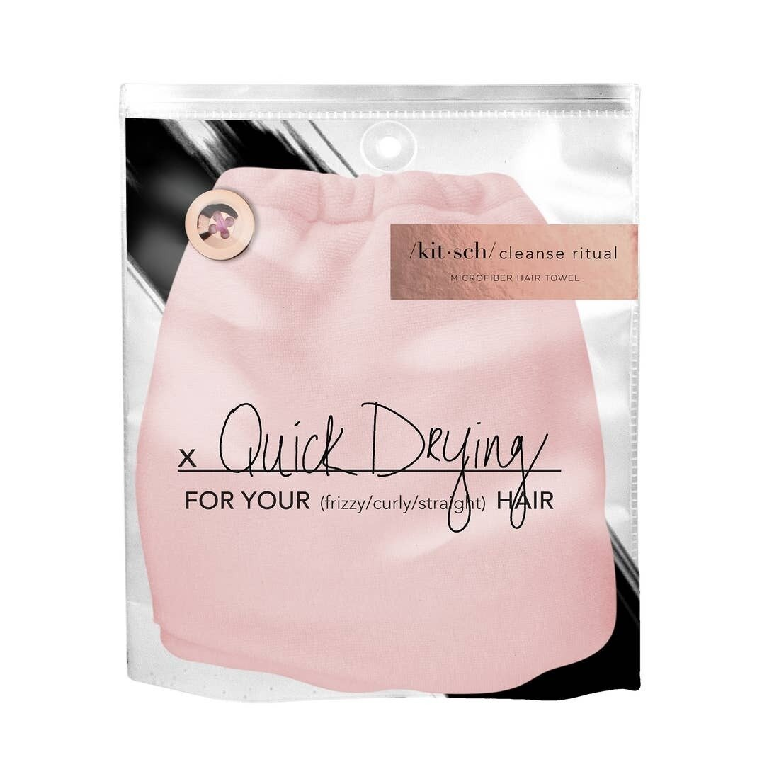 Quick Dry Hair Towel (Pink)