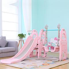 Hello Kitty 3 in 1 Slide and Swing set | Children Kids Baby Indoor Playground | Indoor Slide and Swing