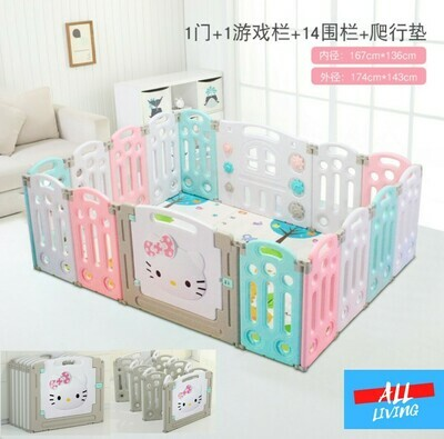 Hello Kitty Foldable Play Pen | Safety Play Pen for Baby | Children Play Pen/Play Yard/ | Play fence