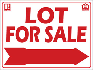 12x16 Lot for Sale (Red) w/ Fair Housing/REALTOR logos