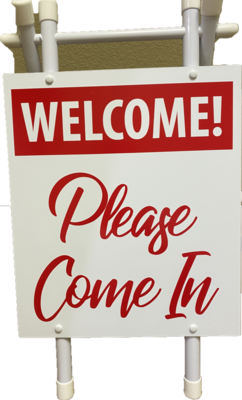 Small Aframe Welcome - Red