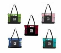 NYLON ZIPPERED TOTE BAG