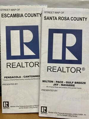 Maps Folded - Santa Rosa County