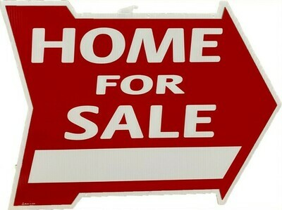 HOME FOR SALE ARROW SIGN