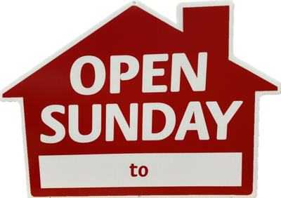OPEN SUNDAY HOUSE SHAPE