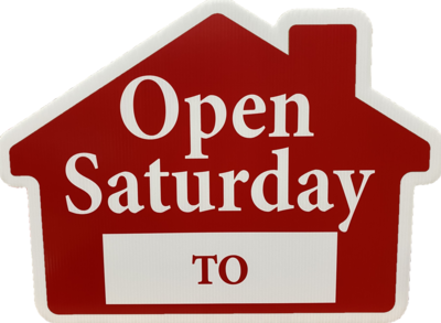 OPEN SATURDAY HOUSE SHAPE