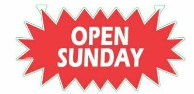 OPEN SUNDAY STARBURST