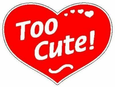 Too Cute  Red Heart