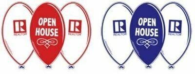 OPEN HOUSE BALLOON SIGN W/ REALTOR® LOGO