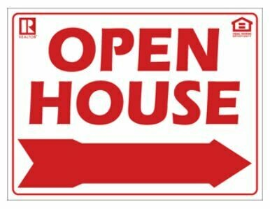 12x16 OPEN HOUSE SIGN W/ LOGOS