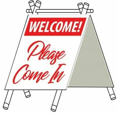 SMALL A-FRAME WELCOME - RED