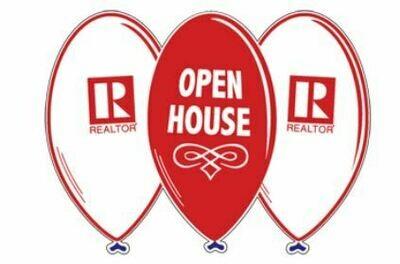 OPEN HOUSE BALLOON SIGN W/ REALTOR LOGO