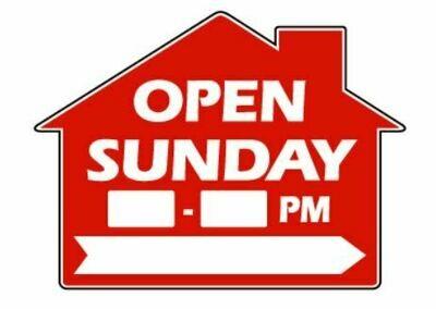 OPEN SUNDAY HOUSE W/ TIME & ARROW