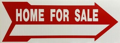 """9"""" X24"""" Home For Sale Rider Sign"""