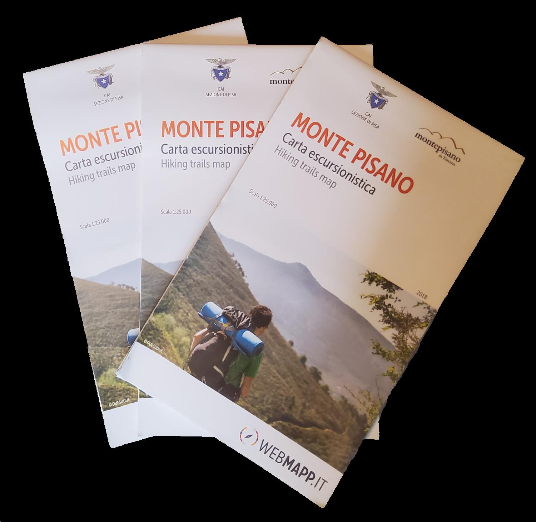 Carta escursionistica del Monte Pisano   Monte Pisano hiking map