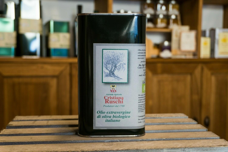 Olio Extra Vergine di oliva biologico latta da 1l - Calci (Pi)
