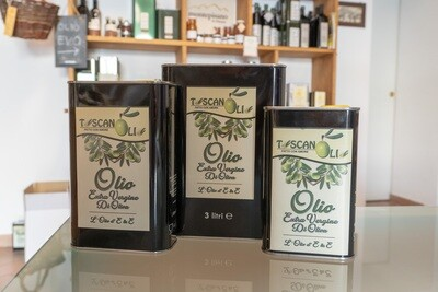 Olio Extra Vergine di oliva in latta - Toscanolio - Vicopisano (Pi)