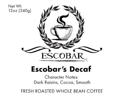 Escobar's Decaf-12onz