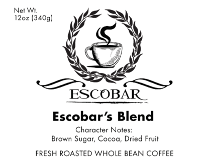 Escobar's Blend-12onz (for expresso, cold brew or drip)