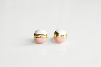 Pink/white CANDY studs