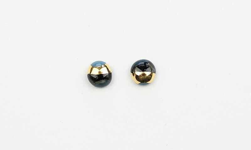 Blue & black ELEGANCE studs