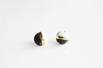 Black and white CANDY  studs