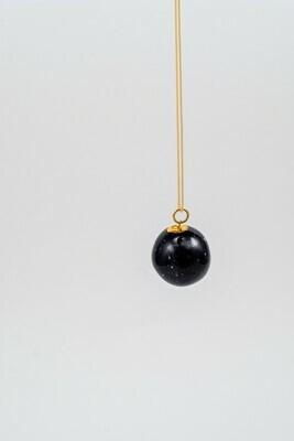 Black PLANET pendant, medium