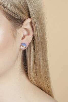 Blue&white CONE studs, large