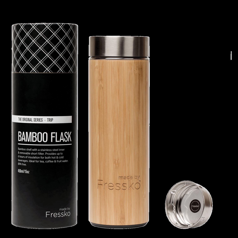 """""""Tripp"""" Bamboo Flask 450ml/15oz"""