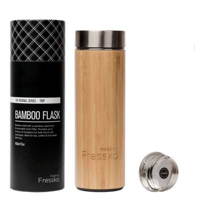 """Tripp"" Bamboo Flask 450ml/15oz"