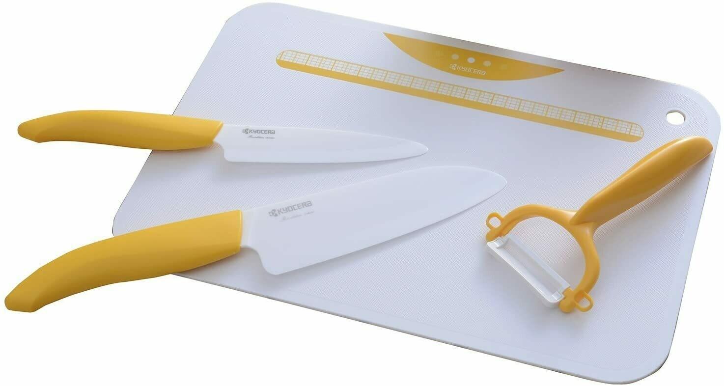 京磁 大小刀、去皮器、菜板4件套