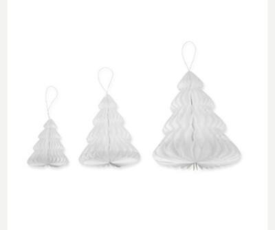 Paper trees (set of three) White