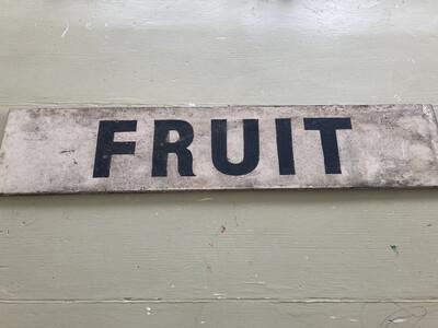 Old 'Fruit' Sign