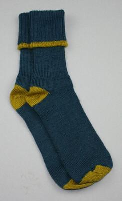 Exmoor Sock Indigo/Mustard