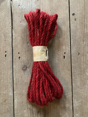 Jute Cord in Red