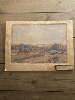 Tom Smith's Mountain Watercolour 1932