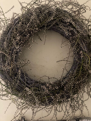 The Natural Broom & Dried Seeds Wreath