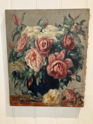 Old French Floral Painting