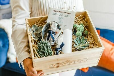 Memorials@Home Ceremony Kit with white sage and abalone shell