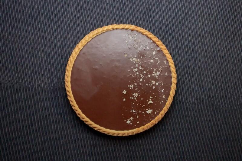 Tartaletė su sūdyta karamele ir šokoladu