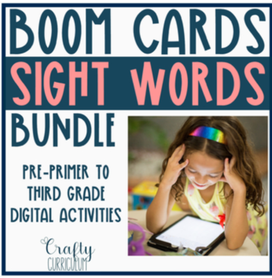 Boom Cards Digital Sight Word Activities