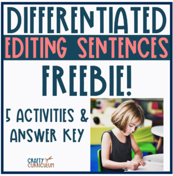 Differentiated Editing Sentences