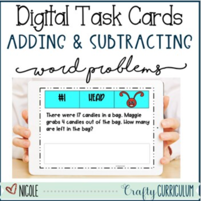 Digital Adding and Subtracting Word Problems