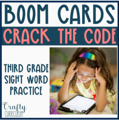Digital 3rd Grade Crack the Code Sight Words