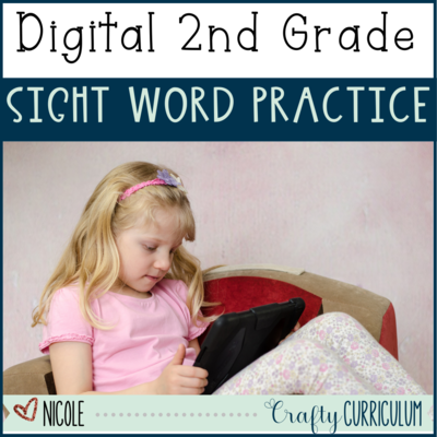 Digital Second Grade Sight Word Activity
