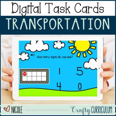 Transportation Digital Task Card Activities